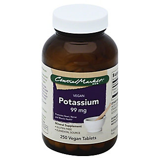 Central Market Potassium 99 mg Vegan Tablets, 250 ct