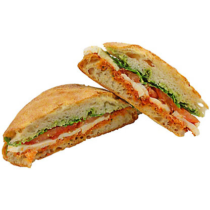 Central Market Mozzarella Tomato And Basil Sandwich, EACH