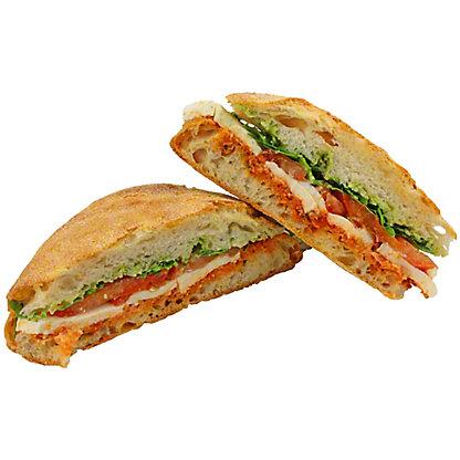 Central Market Mozzarella Tomato And Basil Sandwich, EACH