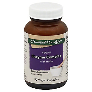 CENTRAL MARKET Enzyme Complex With Herbs Vegan Capsules, 90 ct