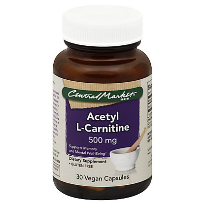 Central Market Acetyl L-Carnitine 500 Mg Vegan Capsules,30 CT