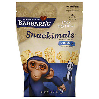 Barbaras Snackimals All Natural Animal Cookies,7.5 OZ