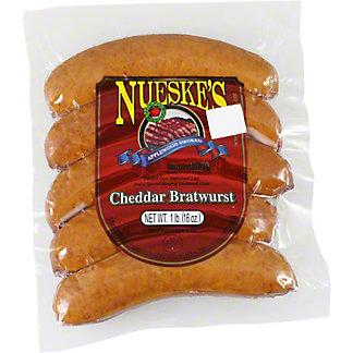 Nueske's Smoked Cheddar Bratwurst, 16 oz