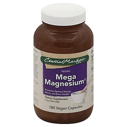 Central Market Mega Magnesium Vegan Capsules, 180 ct