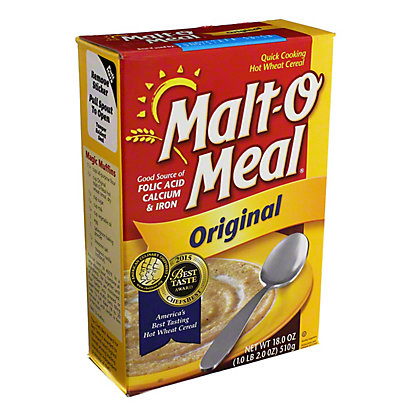 Malt-O-Meal Quick Cooking Original Hot Wheat Cereal, 18 oz