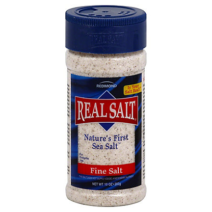Redmond RealSalt Fine Sea Salt, 10 oz