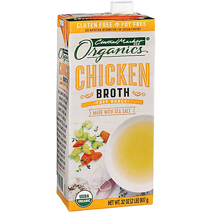 Central Market Organics Free Range Chicken Broth, 32 oz