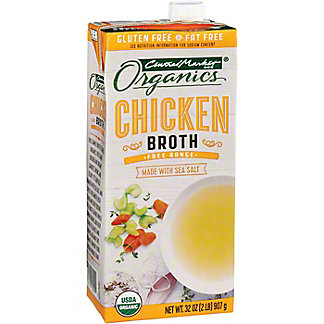 Central Market Organics Free Range Chicken Broth, 32 oz