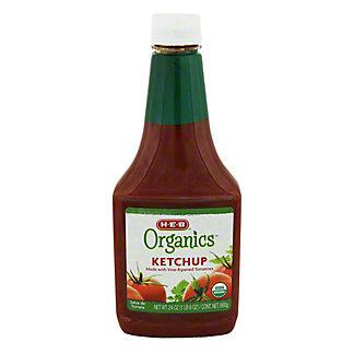 H-E-B Organics Ketchup, 24 oz