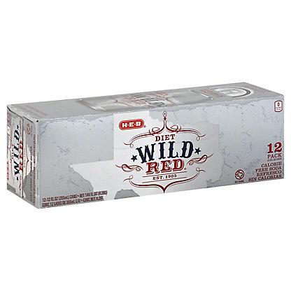 H-E-B Diet Wild Red Soda 12 oz Cans, 12 pk