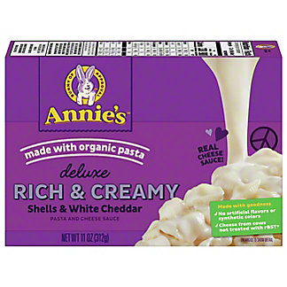 Annie's Homegrown Creamy Deluxe Rotini and White Cheddar Sauce Macaroni Dinner, 9.3 oz