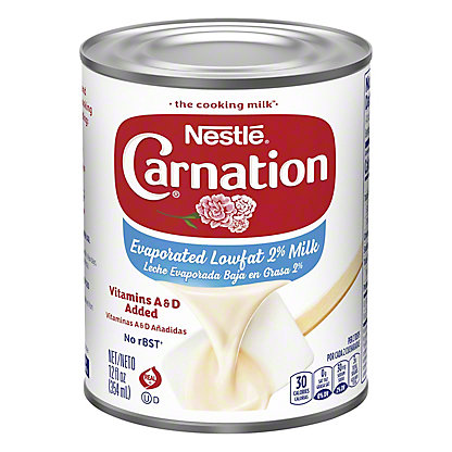 Nestle Carnation Evaporated Lowfat 2% Milk, 12 oz