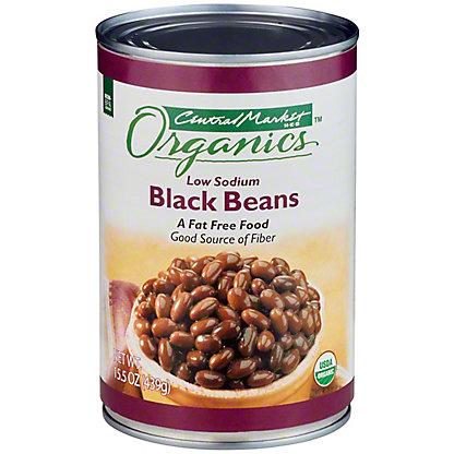 Central Market Organics Low Sodium Black Beans, 15 oz