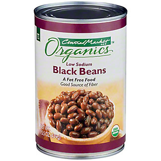 Central Market Organics Low Sodium Black Beans, 15 oz