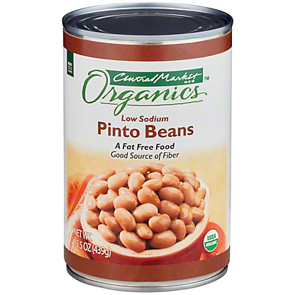 Central Market Organics Low Sodium Pinto Beans, 15 oz