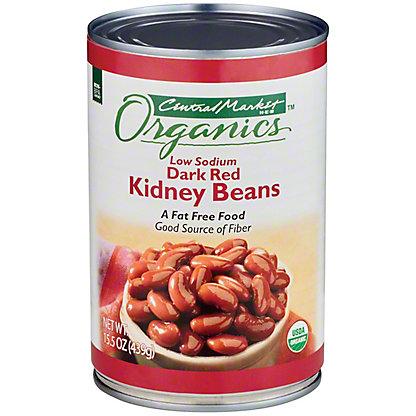 Central Market Organics Low Sodium Dark Red Kidney Beans, 15 oz