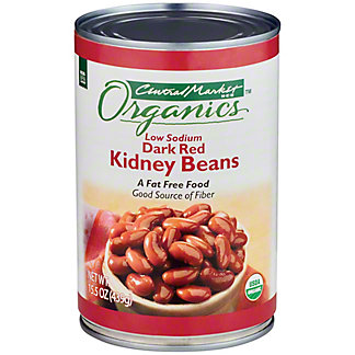 Central Market Organics Low Sodium Dark Red Kidney Beans, 15 oz
