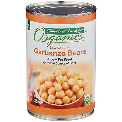 Central Market Organics Low Sodium Garbanzo Beans, 15 oz
