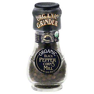 Drogheria & Alimentari Organic Black Peppercorns Mill With Grinder,1.58 OZ