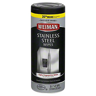 Weiman Stainless Steel Wipes, 30 ct