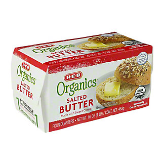 Central Market Organics Salted Butter, 16 oz