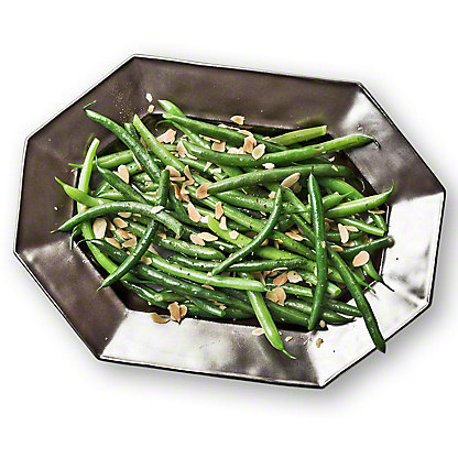 Green Beans with Toasted Almonds, Serves 6-8