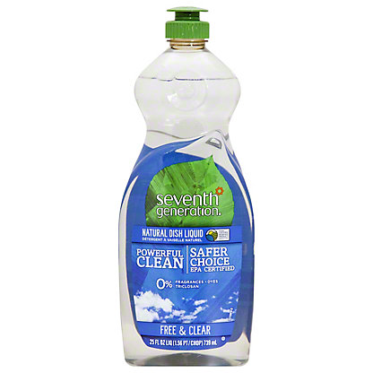 Seventh Generation Free & Clear Natural Dish Liquid,25 OZ