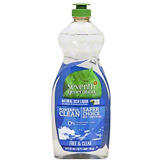 Seventh Generation Free & Clear Natural Dish Liquid,25 OZ