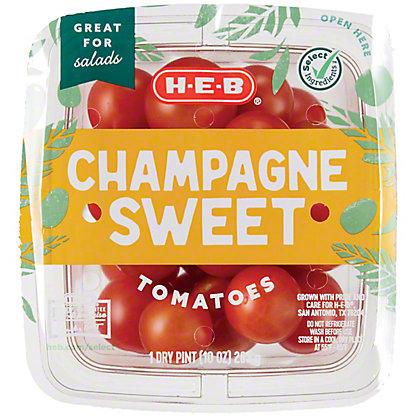 H-E-B Champagne Sweet Tomatoes, 1 Pint
