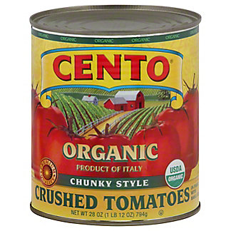 Cento Organic Chunky Style Crushed Tomatoes in Puree,28.00 oz