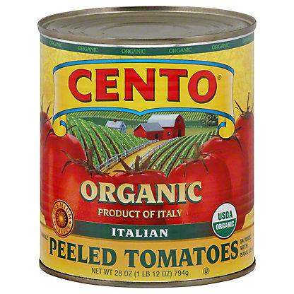 Cento Organic Whole Peeled Tomatoes in Juice with Basil Leaf,28.00 oz