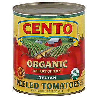 Cento Organic Whole Peeled Tomatoes in Juice with Basil Leaf,28.00 oz