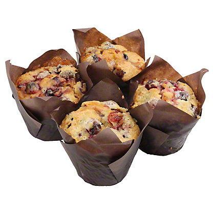Central Market Cranberry Blueberry Muffins 4 Count, 4 CNT