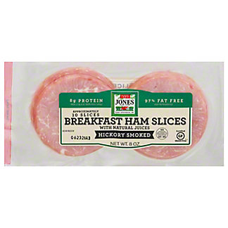 Jones Dairy Farm Naturally Hickory Smoked Ham Slices,10 ea