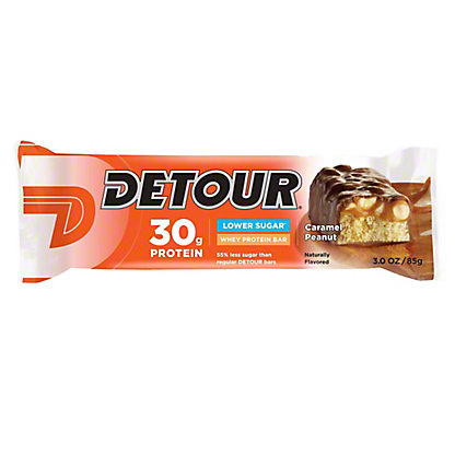 Detour Lower Sugar Caramel Peanut Whey Protein Bar,3 OZ
