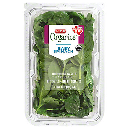 Central Market Organics Baby Spinach, 16 oz