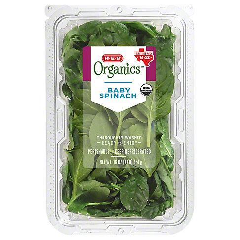 Central Market Organics Baby Spinach, 16 OZ