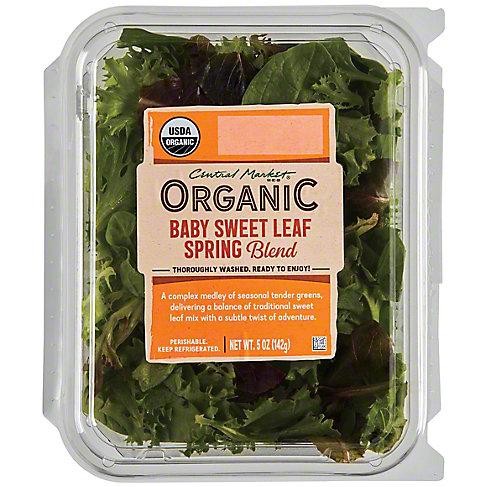 Central Market Organics Baby Sweet Leaf Spring Mix, 5 OZ
