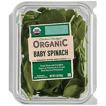 Central Market Organics Baby Spinach, 5 oz