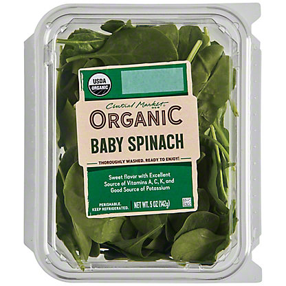 Central Market Organics Baby Spinach, 5 oz