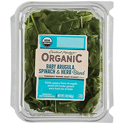 Central Market Organics Baby Spinach and Baby Arugula with Herbs Blend, 5 oz