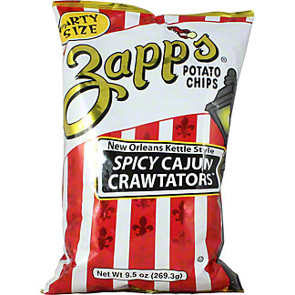 Zapp's Potato Chips Spicy Cajun Crawtators, 9.50 oz