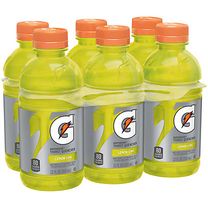 Gatorade Lemon-Lime Thirst Quencher 12 oz Bottles, 6 pk