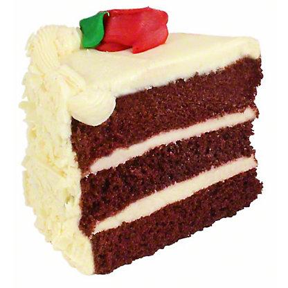 Central Market Red Velvet Cake Slice, ea
