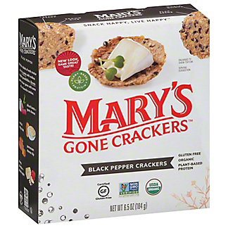 Mary's Gone Crackers Organic Black Pepper Crackers, 6.50 oz