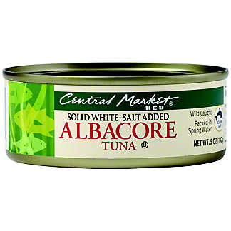 Central Market Solid White Albacore Tuna, 5 oz