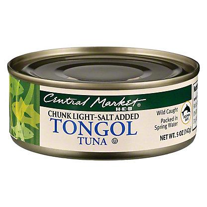 Central Market Chunk Light Tongol Tuna, 5 oz