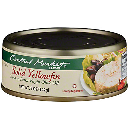 Central Market Solid Yellowfin Tuna In Extra Virgin Olive Oil,5 OZ