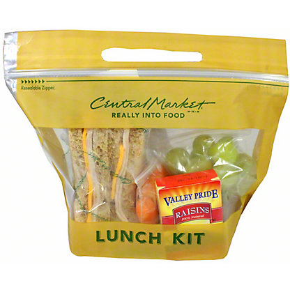 Central Market Turkey and Cheese on Whole Wheat Lunch Box, ea