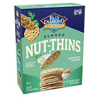 Blue Diamond Nut-Thins Country Ranch Cracker Snacks, 4.25 oz